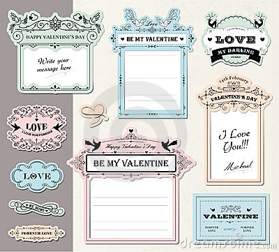 Free Love Gift Tags Royalty Free Stock Photos - 22967688