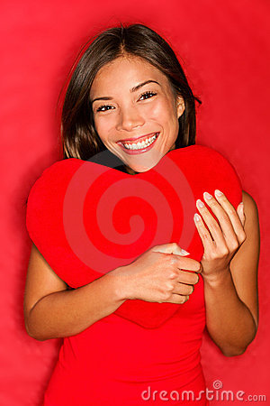 Free Love Girl Holding Heart Royalty Free Stock Photography - 23217387