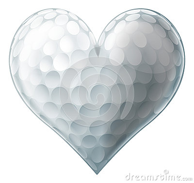Free Love Golf Ball Heart Royalty Free Stock Photos - 42846578