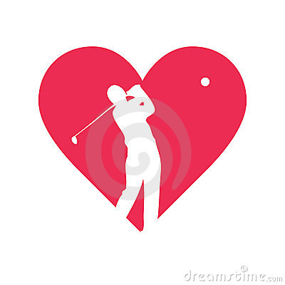 Love golf vector design