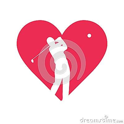 Love golf vector design