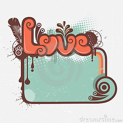 Love graphic and frame
