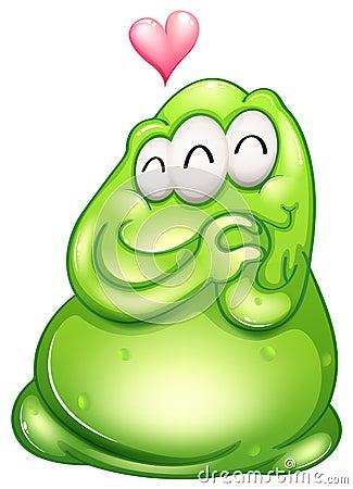 An in-love greenslime monster