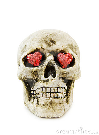 Love Halloween with scary skull