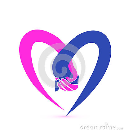 Love Hands Logo Stock Photo - Image: 35139030