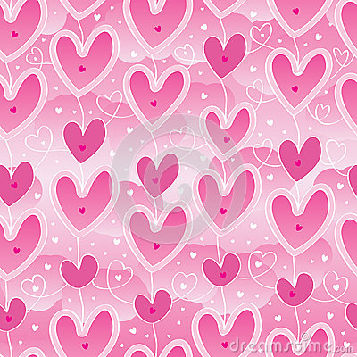 Free Love Hang Sky Pink Seamless Pattern Royalty Free Stock Photography - 49465667
