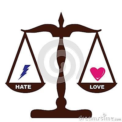 Love Hate feelings weights the same