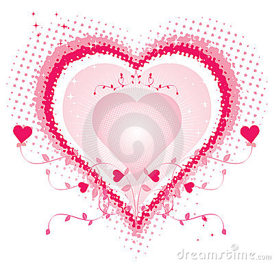 Royalty Free Stock Photos: Love heart abstract
