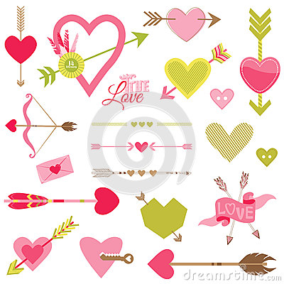 Love, Heart and Arrows Set