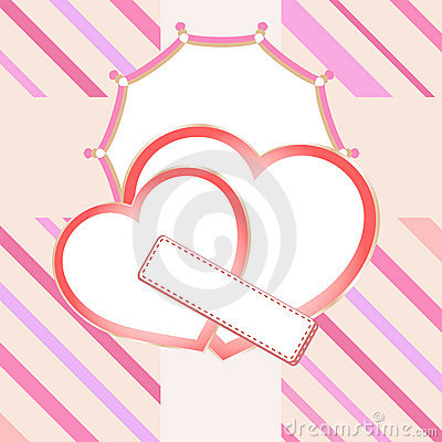 Love heart in bridal valentine cute background
