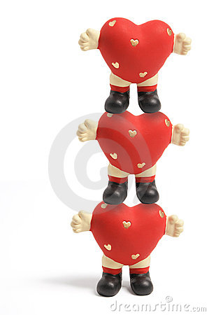 Love Heart Figurines
