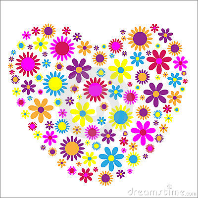 Love Heart flowers