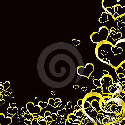 Love heart gold background