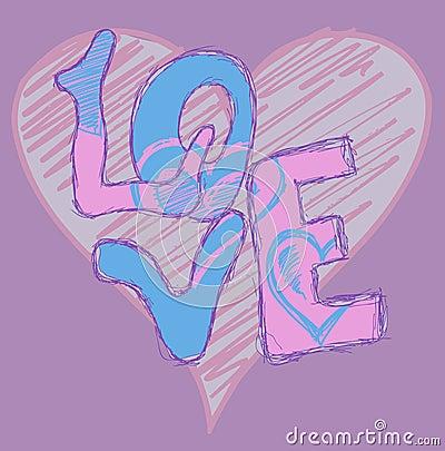 Love heart graffiti