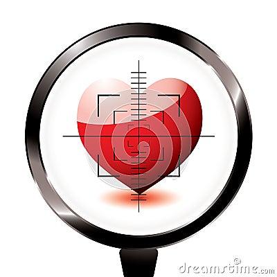 Love heart riffle target