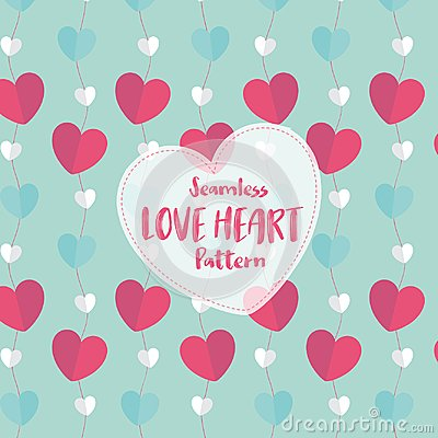 Free Love Heart Seamless Pattern On Romantic Pastel Color. Vector Illustration. Stock Images - 108930194