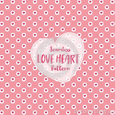 Free Love Heart Seamless Pattern On Romantic Pastel Color. Vector Illustration. Stock Image - 108931781