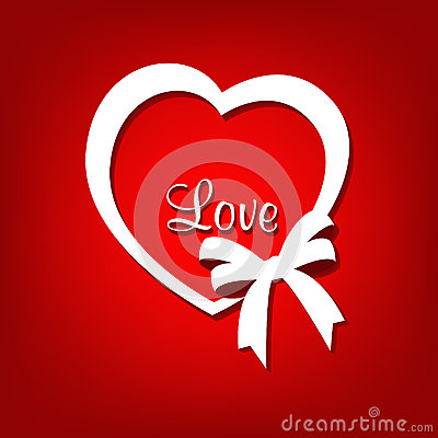 Free Love Heart Shape With Ribbon Bow Royalty Free Stock Image - 36508136