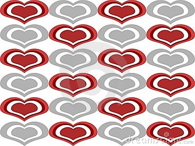 Love Heart Shapes Seamless Background