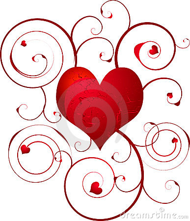 Free Love Heart Swirl Royalty Free Stock Image - 2901926