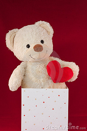 Love Heart Teddy Bear In A Box