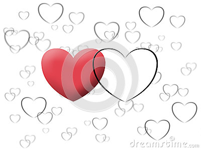 Love heart valentine illustrate image