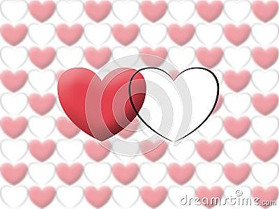 Love heart valentine illustrate image