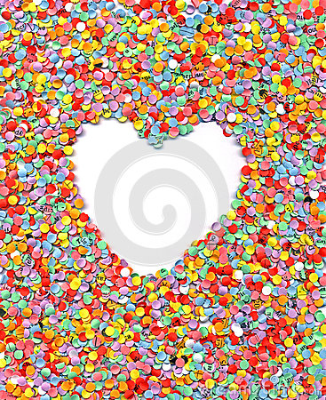 Love, heart, wedding, rainbow confetti background,