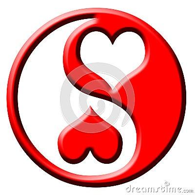 Love heart yin yang