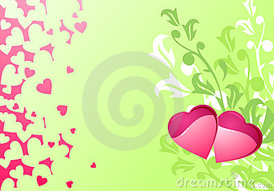 Love hearts and background / wedding