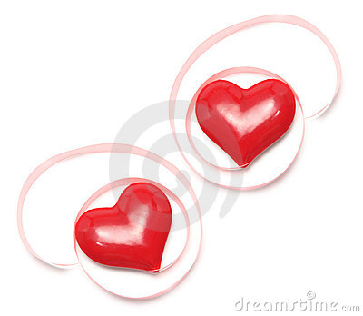 Love Hearts with Gift Ribbons
