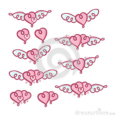Love hearts Stock Photo