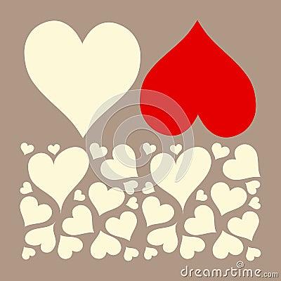 Love hearts valentine background