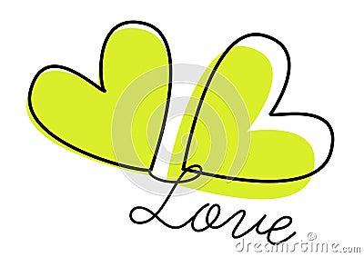 Love hearts - vector