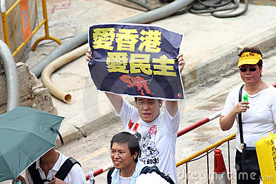 We love Hong Kong, we love democracy. Editorial Photo