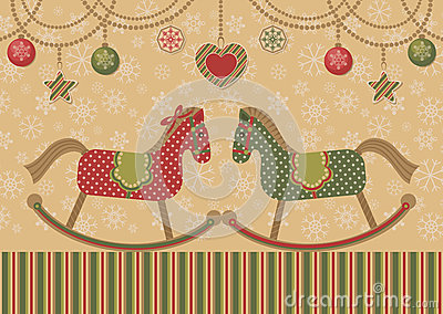 Love horses and christmas garlands