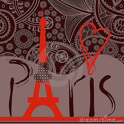 Free Love In Paris Background Royalty Free Stock Images - 22876469
