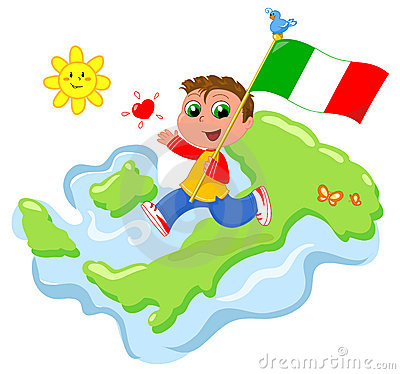 Love for Italy vector