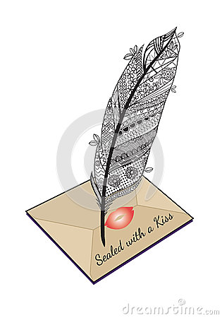 Love letter feather pen