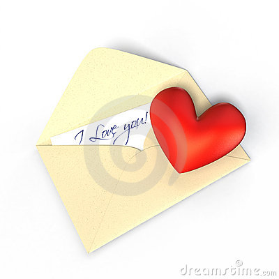 Love letter with a heart.