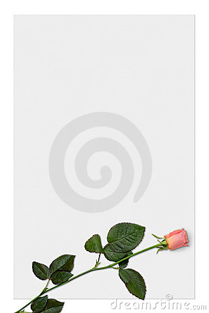 Free Love Letter Paper With Red Rose Background Stock Image - 603541