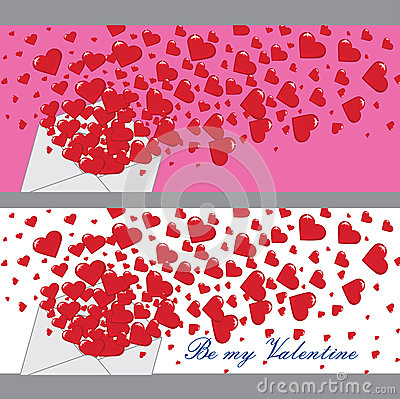 Free Love Letter With Hearts Valentines.Banners.Vector Stock Photo - 37420480