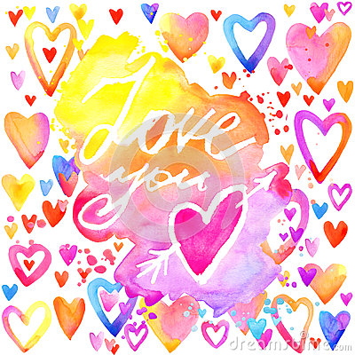 Free Love Lettering Background. Valentines Day Card. Royalty Free Stock Photos - 64585228
