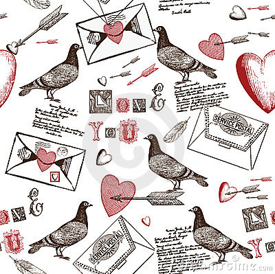 Free Love Letters Background Royalty Free Stock Photo - 18454595