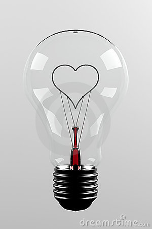 Love light bulb