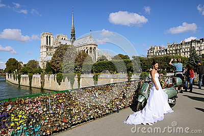 Love locks Editorial Photo