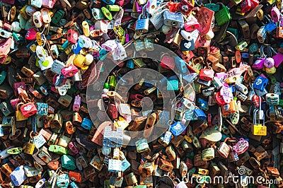 Love Locks Editorial Stock Image