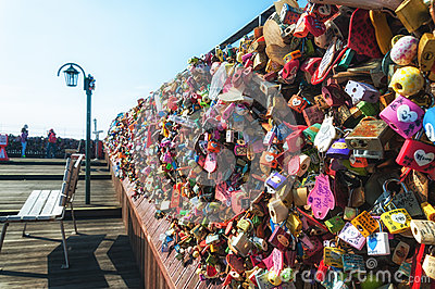 Love Locks Editorial Stock Photo