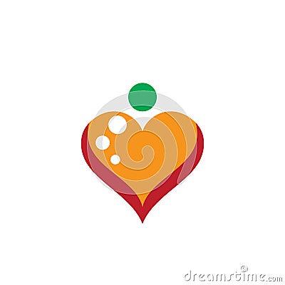Love logo vector business Vector Illustration