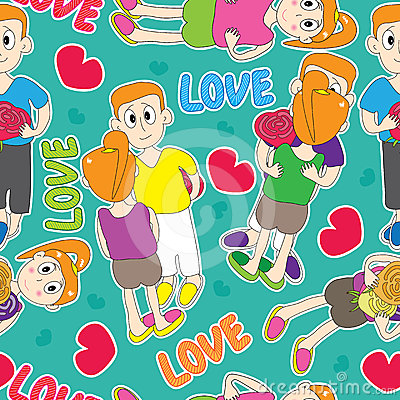 Love Lover Seamless Pattern_eps